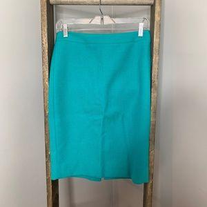 J. Crew Green The #2 Pencil Skirt
